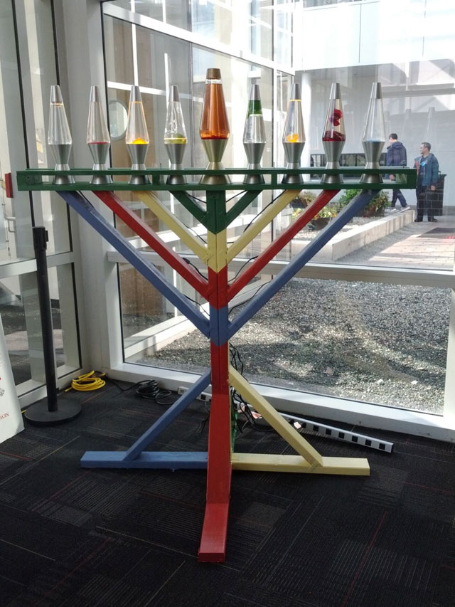 Google's Lava Lamp Menorah
