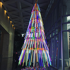 Google Beijing LED Strip Christmas Tree