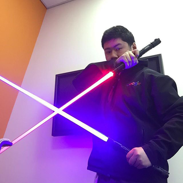 Googlers On May 4th With Lightsabers