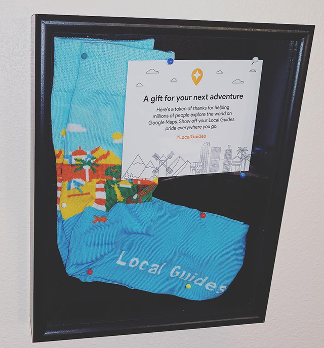 Google Gifts Local Guide Socks
