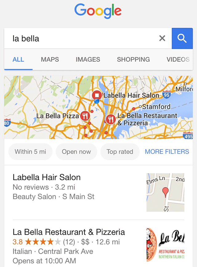 Google Local Pack Gets Search Filters For Map Results