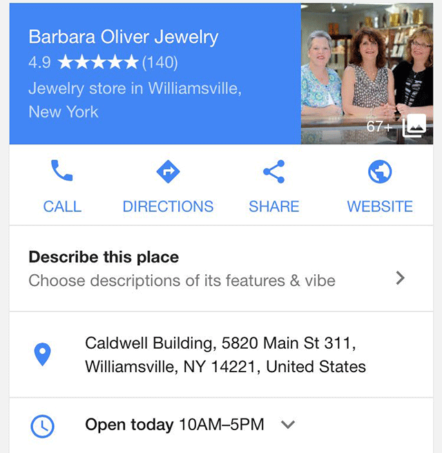 Google Tests Local Knowledge Panels Without Maps