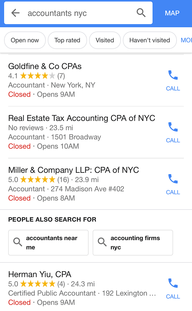Google People Also Search In Local Search Results