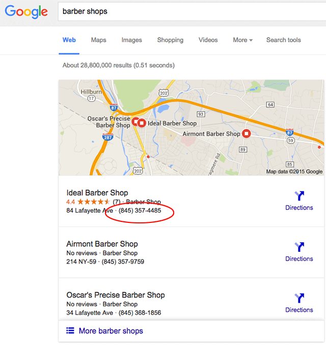 Phone Numbers Are Back In The Google Maps Local Listings