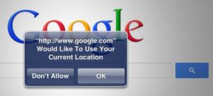 Google Location Prompt