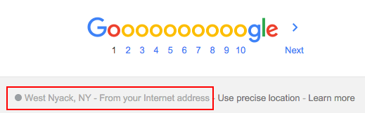 Google: From your internet address