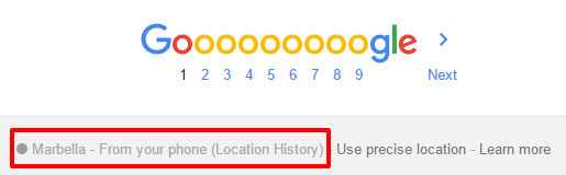 Google: From your phone (Location History)