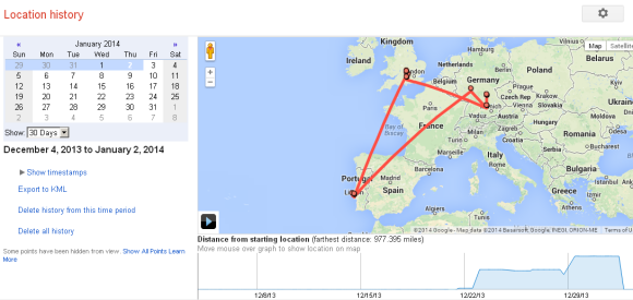 Maps Location History Google Drops Location History Summary Dashboard Maps Location History