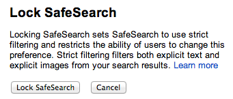 Google Lock SafeSearch