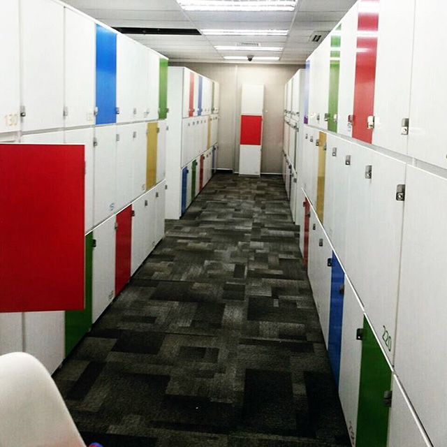 Google Colored Lockers