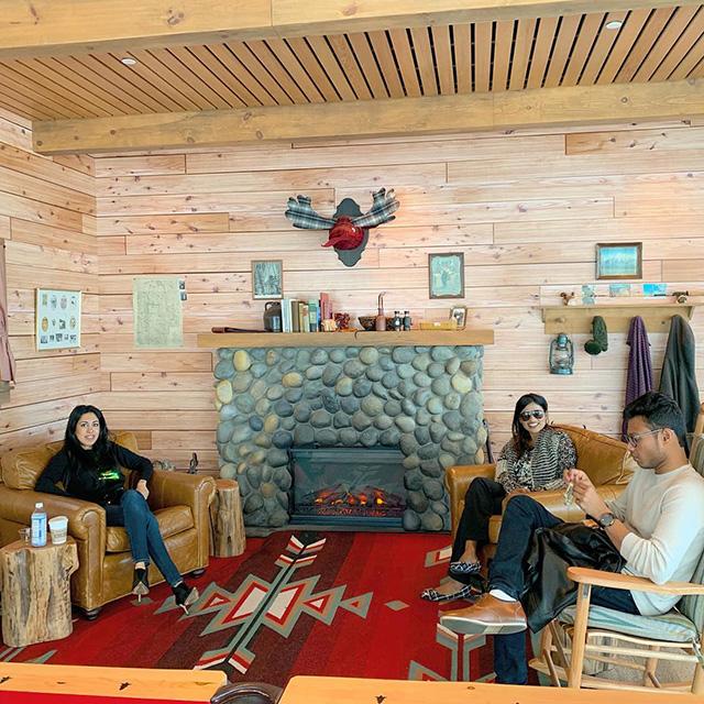 Google Log Cabin Style Room
