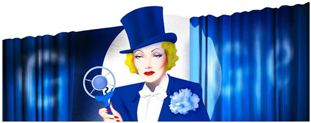 Marlene Dietrich Google Doodle