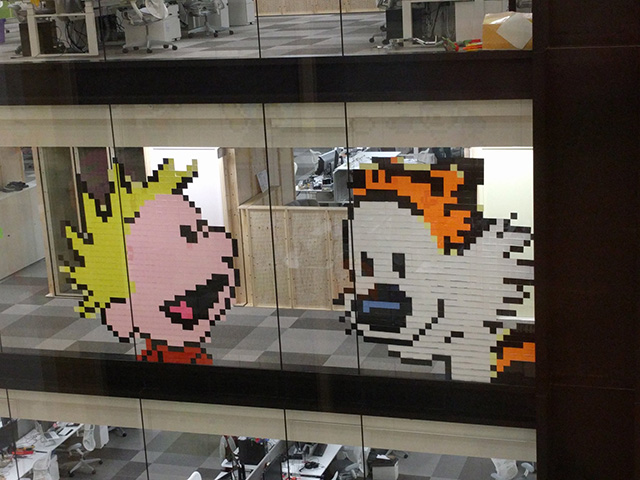 Google New Calvin & Hobbes Post It Wall Art