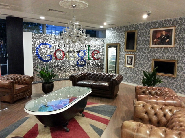 Google london office address Announces Google London Office Has Posh Lobby Search Engine Roundtable Google Londons Sparkly Lobby