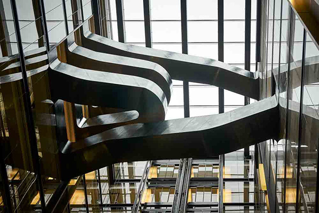 New Google London Black Steel Staircase