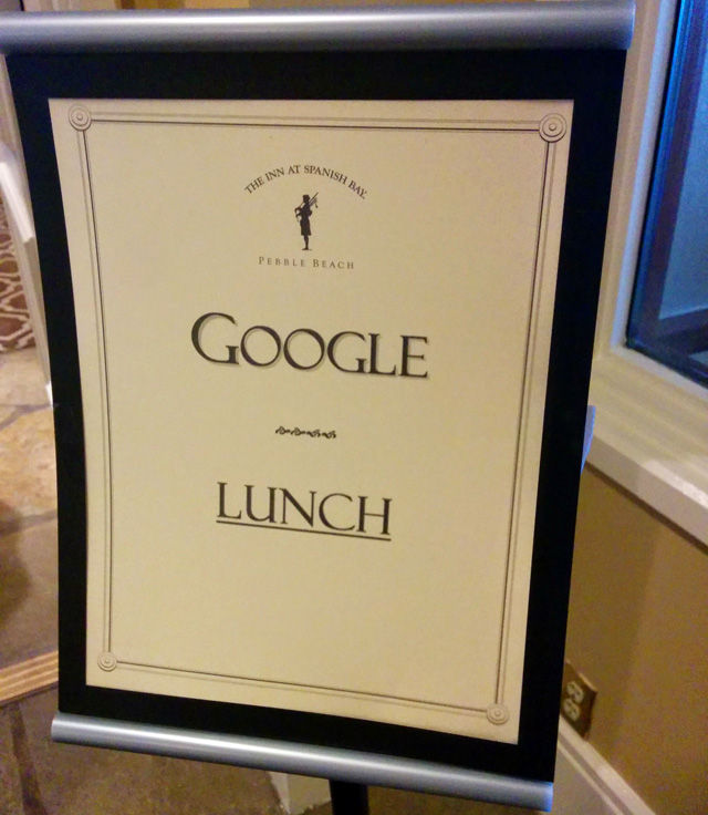 Google For Lunch At Pebble Beach Resorts