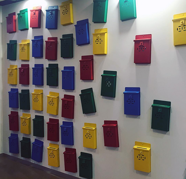 Wall Of Mailboxes At Google