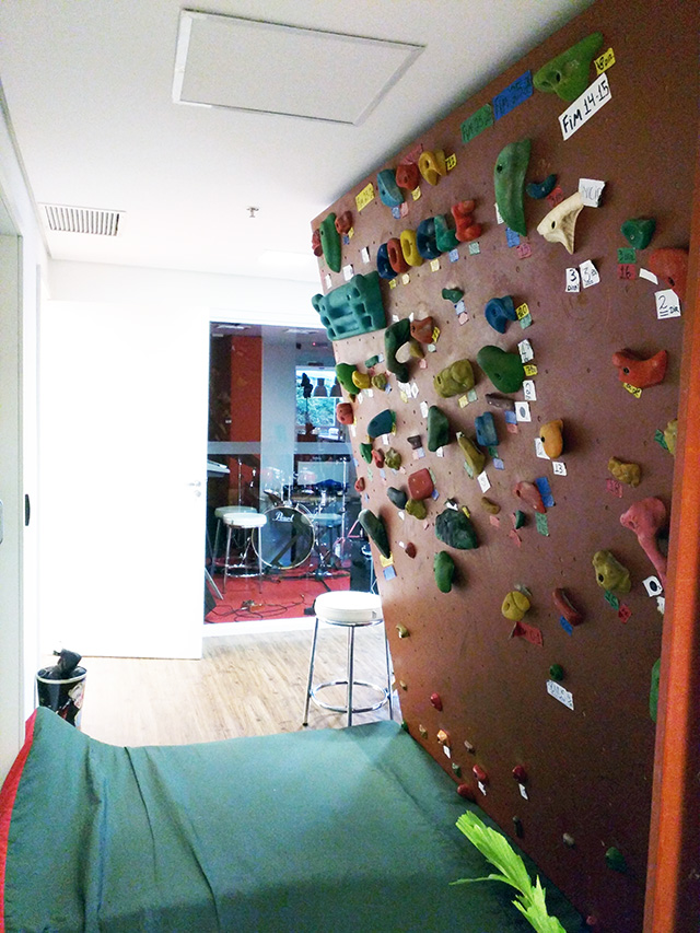 Google Make Shift Climbing Wall