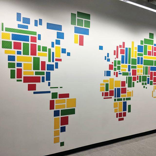Google Wall Map Designed Using Google Display Ad Unit Blocks