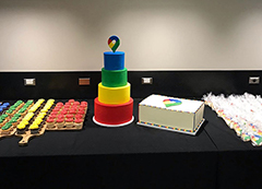 Google Maps 15th Birthday Cake With New Logo