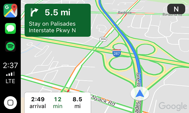 Google Maps Now On Apple CarPlay & It's Pretty Basic