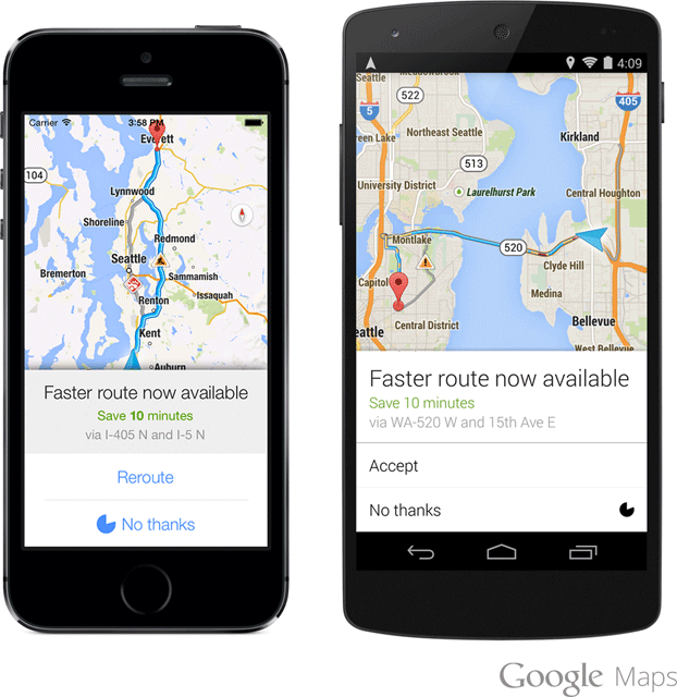 Google Maps Directions Reroute For Traffic