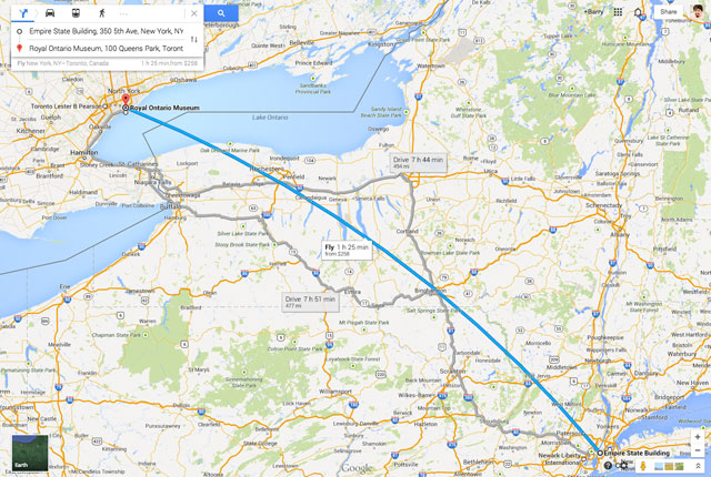 Google Maps Now Shows Flight Directions