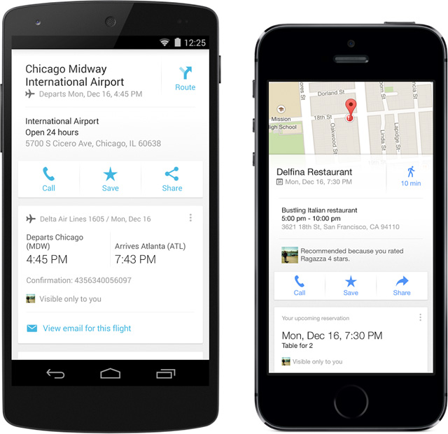 Google Maps Mobile With Google Now Cards
