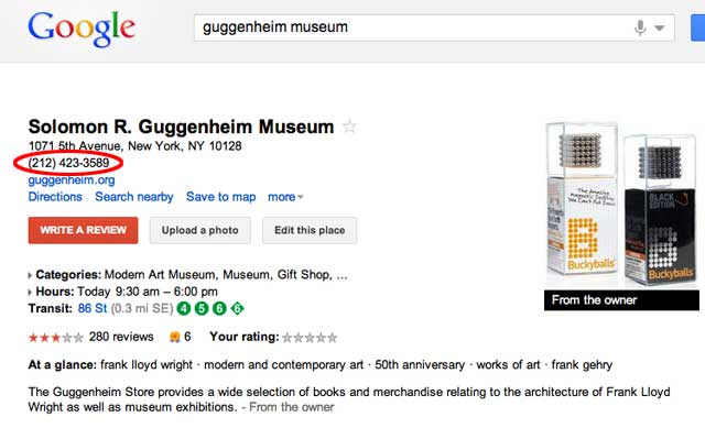 Guggenheim Museum - Google Maps