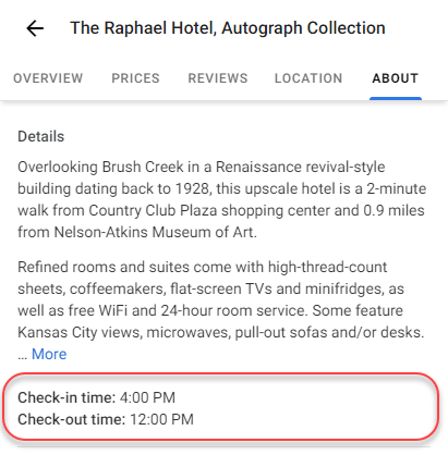 Google Maps Adds Hotel Check-In & Check-Out Times