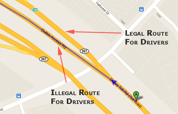 Google Maps Illegal Routes
