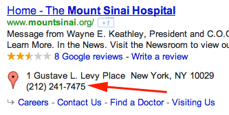 Google Mount Sinai Hospital In New York City