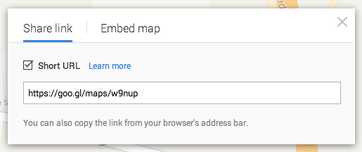 Google Maps Share & Embed