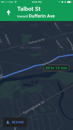 Night Mode Added To Google Maps App