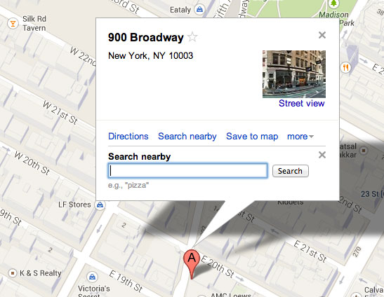 Search Nearby Google Maps