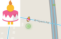 Google Maps Pegman Dresses Up As A Birthday Cake For 10 Year Birthday