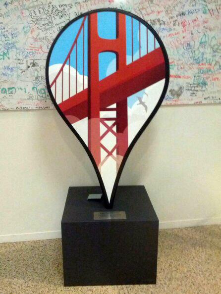 Golden Gate Bridge Google Maps Pin