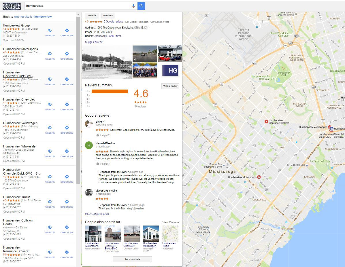 Google Maps Testing See Web Results Link In Local Results on