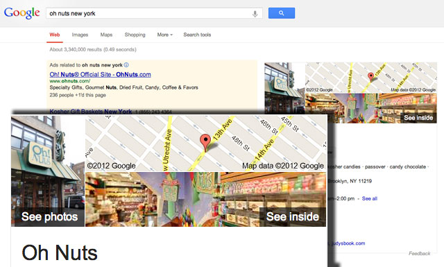 Google Shows Business Photos In Maps Box In Web Results