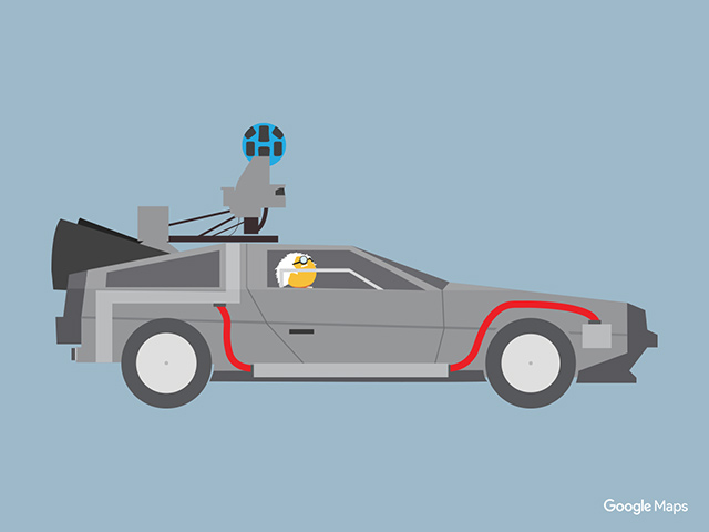 Google Maps Back To The Future Street View Car Icon
