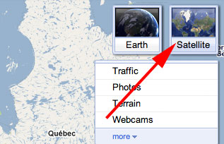 Google Maps Not Switching Between Satellite & Map Layers on world map quebec, major lakes in quebec, mapquest quebec, detailed map of quebec, google earth quebec,