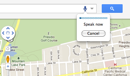 Google Voice Search for Maps