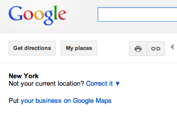 Google Maps Automatic Location