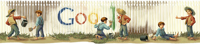 Google Mark Twain Logo - Full Size