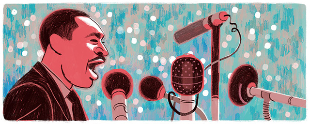Martin Luther King Jr. Day Google Logo