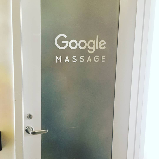 Google Massage Room Door