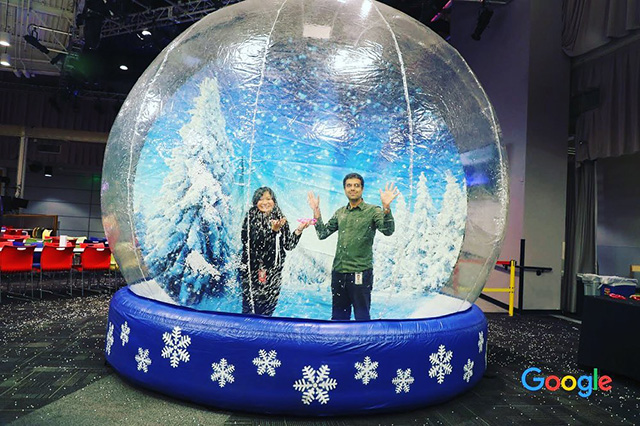 Life Size Snow Globe At Google