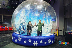 Human Size Snow Globe At Google