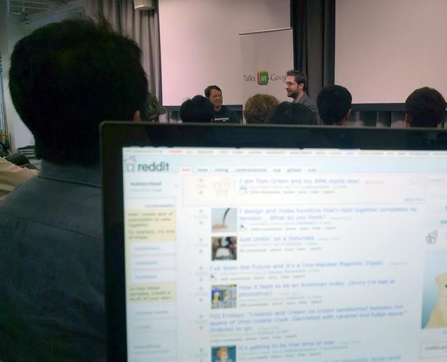 Google's Matt Cutts Computer Screen