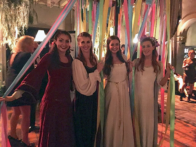 Google Maypole Dancers At Holiday Party